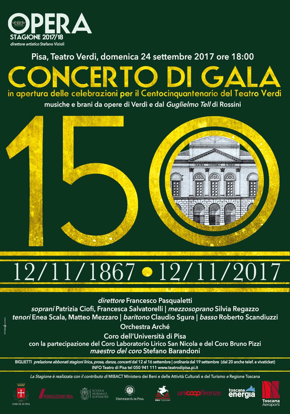 Locandina concerto di gala 2017